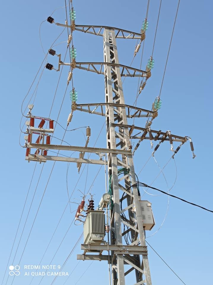 أثناء المتابعة الميدانية لمشروع ض.ع ثالث يصل محطة التوليد بالمنطقة الصناعية بيديكو .